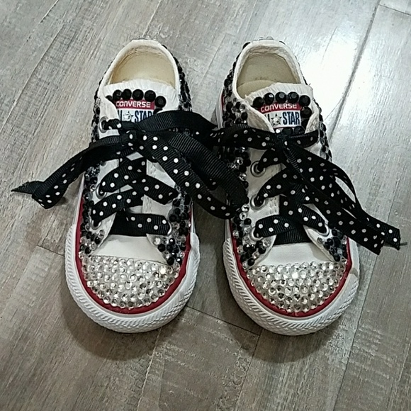 5b711476ce08b1 Converse Other - 💎❤Customized Converse All Star sz 6 toddler
